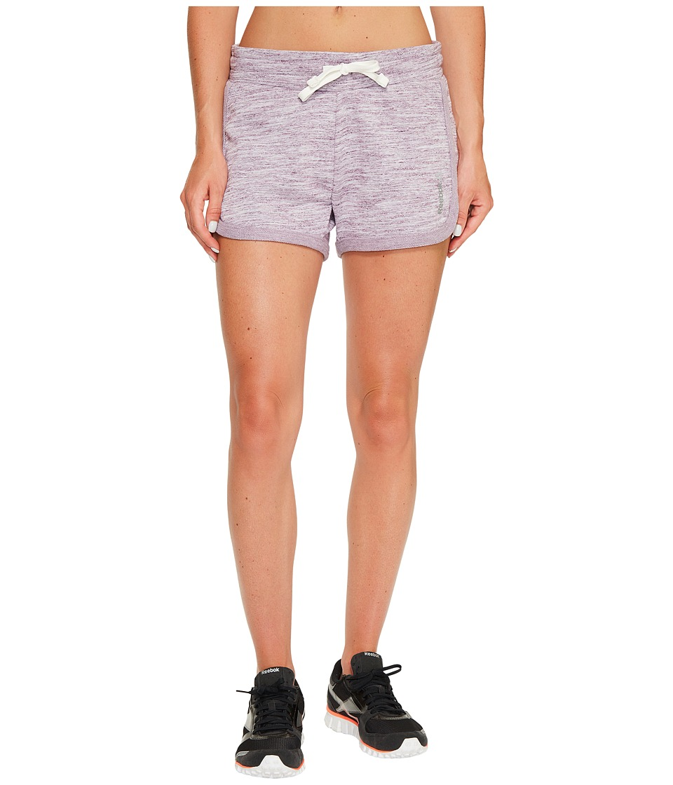 Reebok - Elements Melange Shorts (Pacific Purple) Women's Shorts