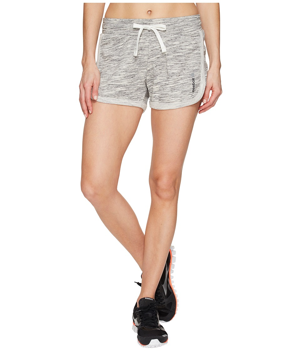 Reebok - Elements Melange Shorts (Chalk) Women's Shorts