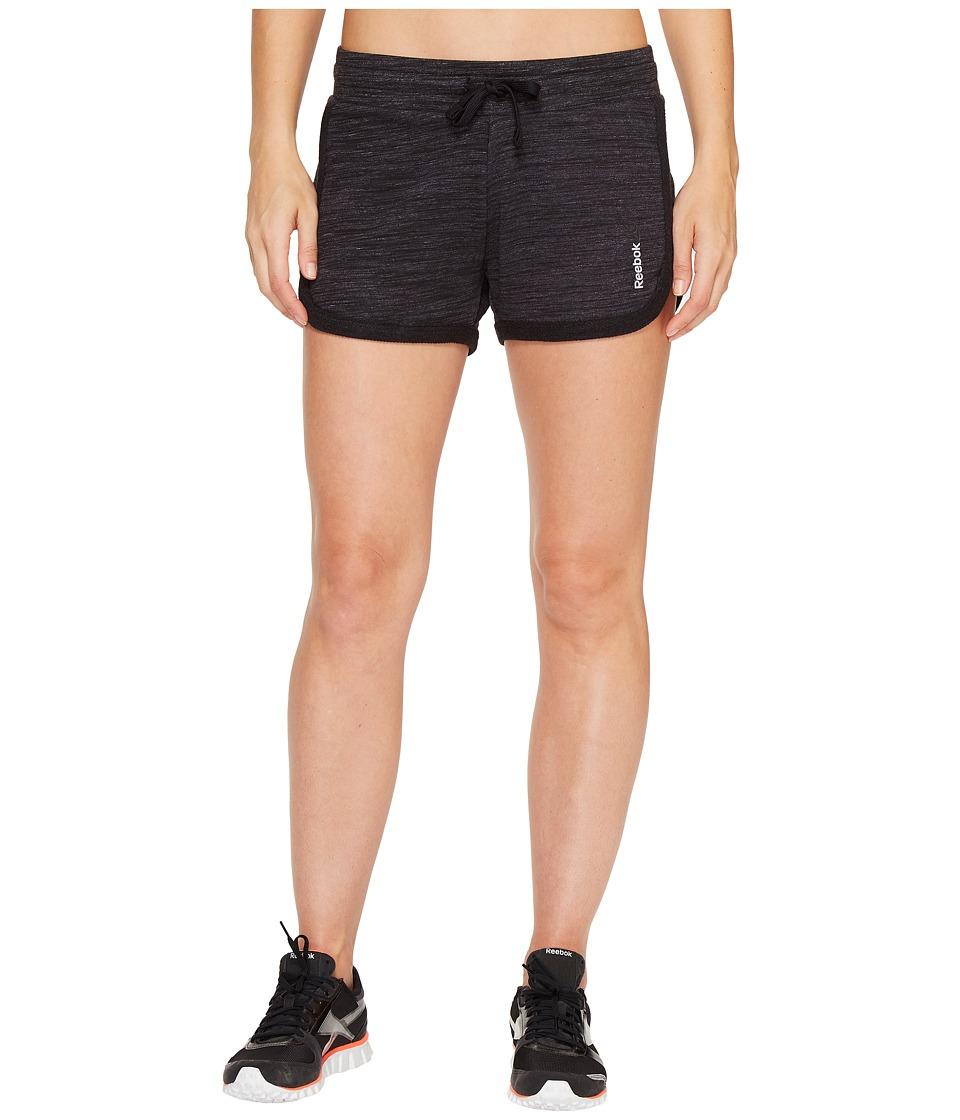 Reebok - Elements Melange Shorts (Black) Women's Shorts