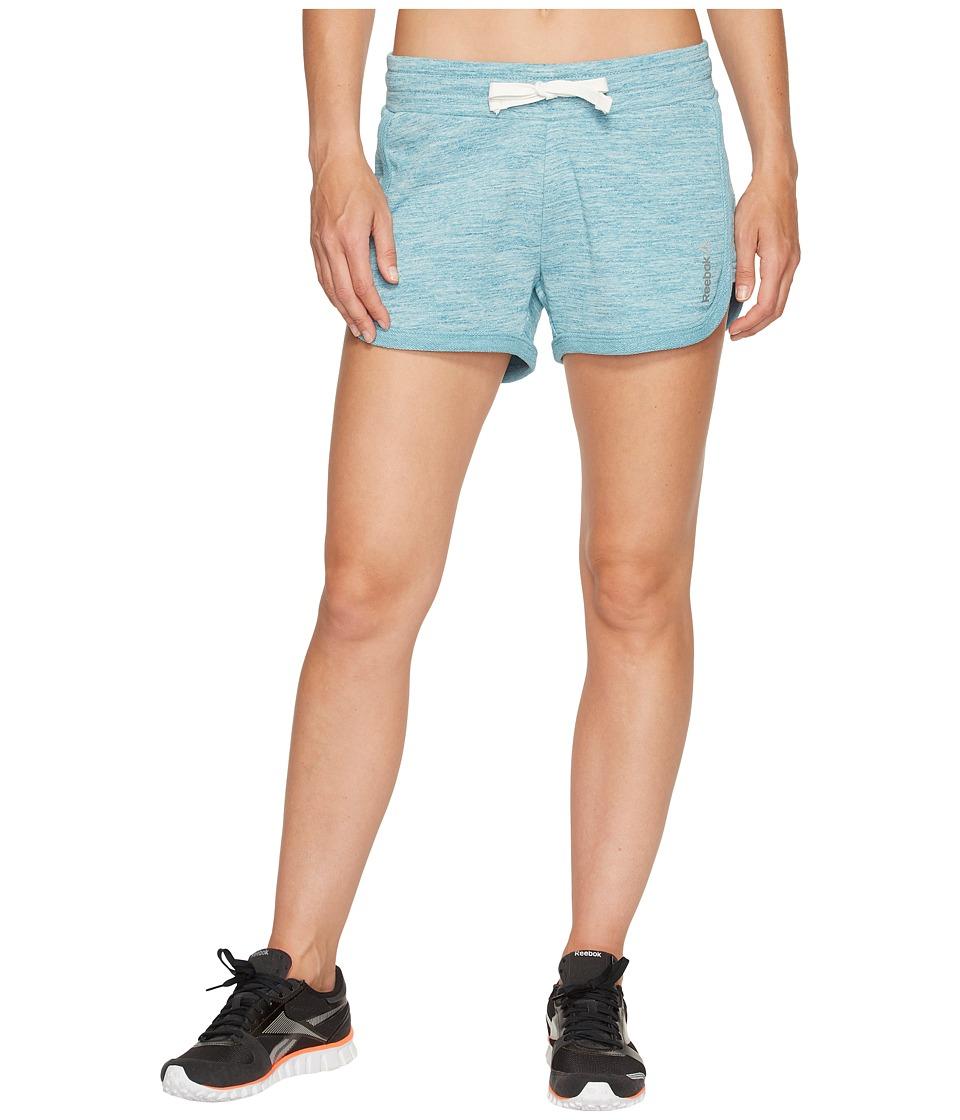 Reebok - Elements Melange Shorts (Emerald Tide) Women's Shorts
