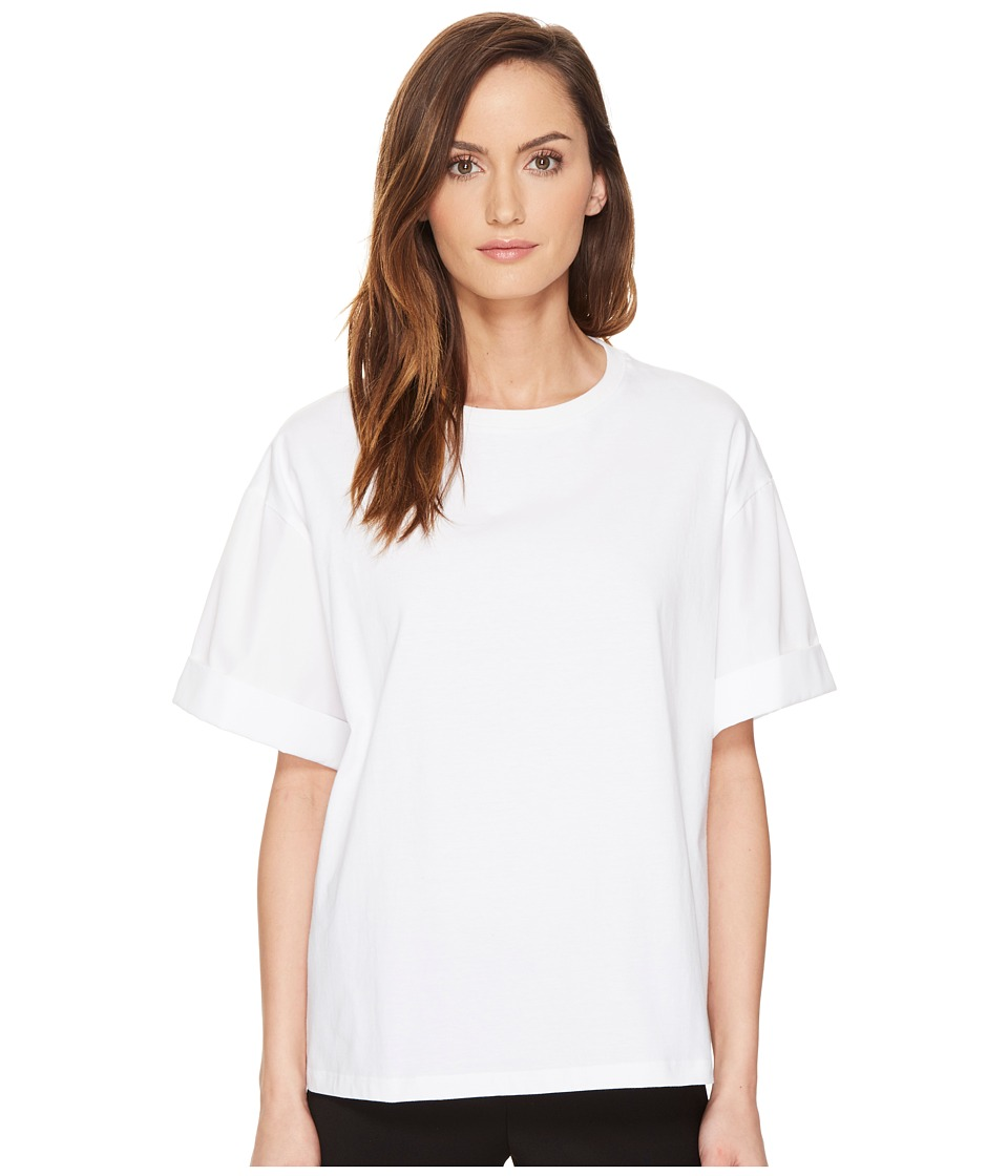 Neil Barrett - Jersey + Poplin T-Shirt (White) Women's T Shirt