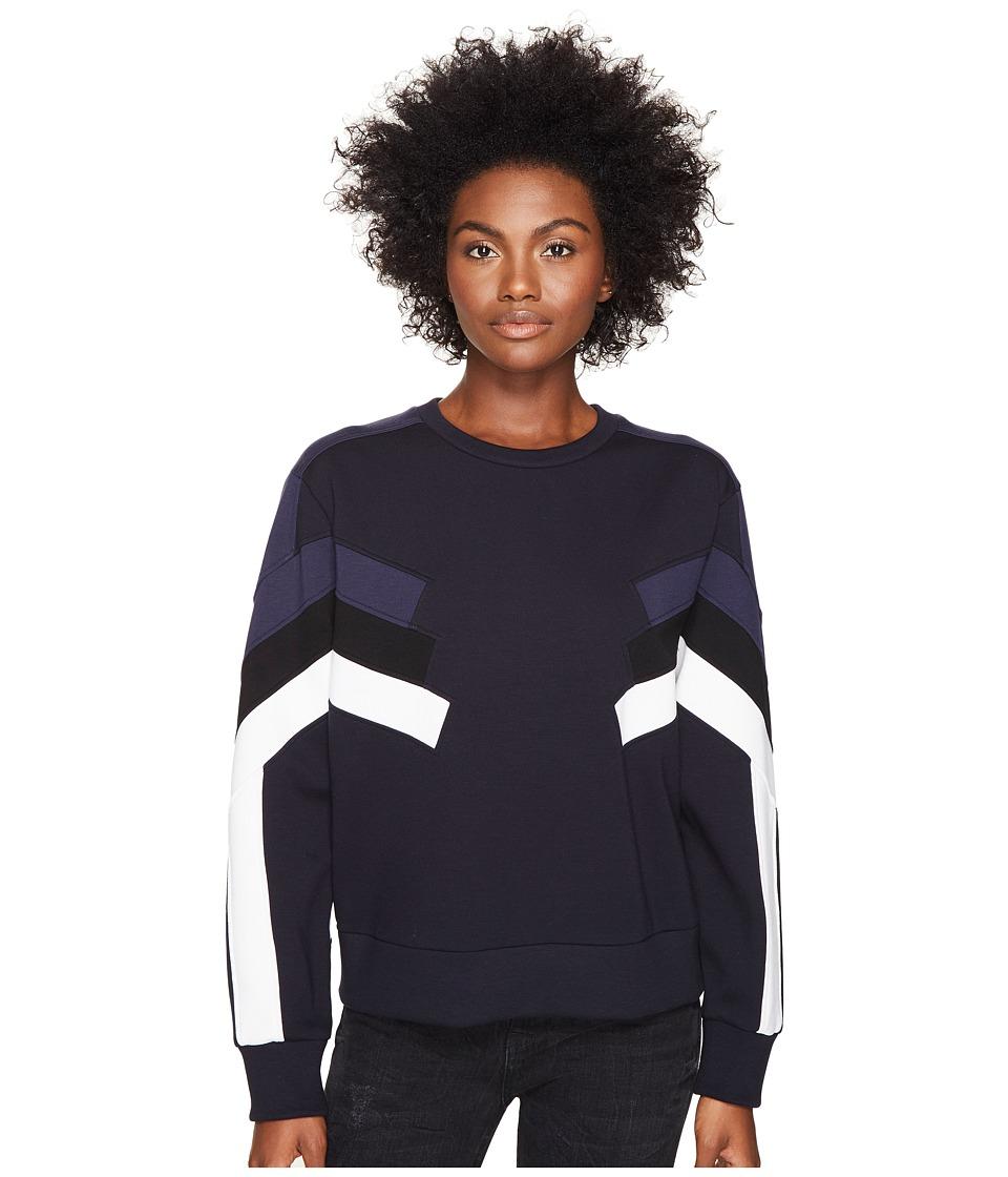 Neil Barrett - Modernist Retro Sweatshirt I (Black/Blue) Women's Sweatshirt