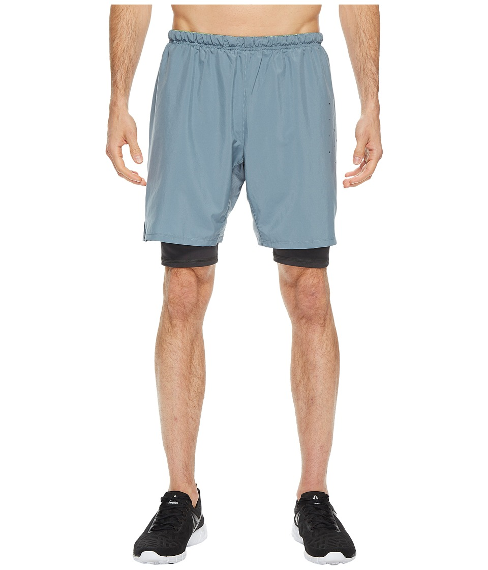 Reebok - One Series Running 2-in-1 Shorts (Stonewash) Men's Shorts