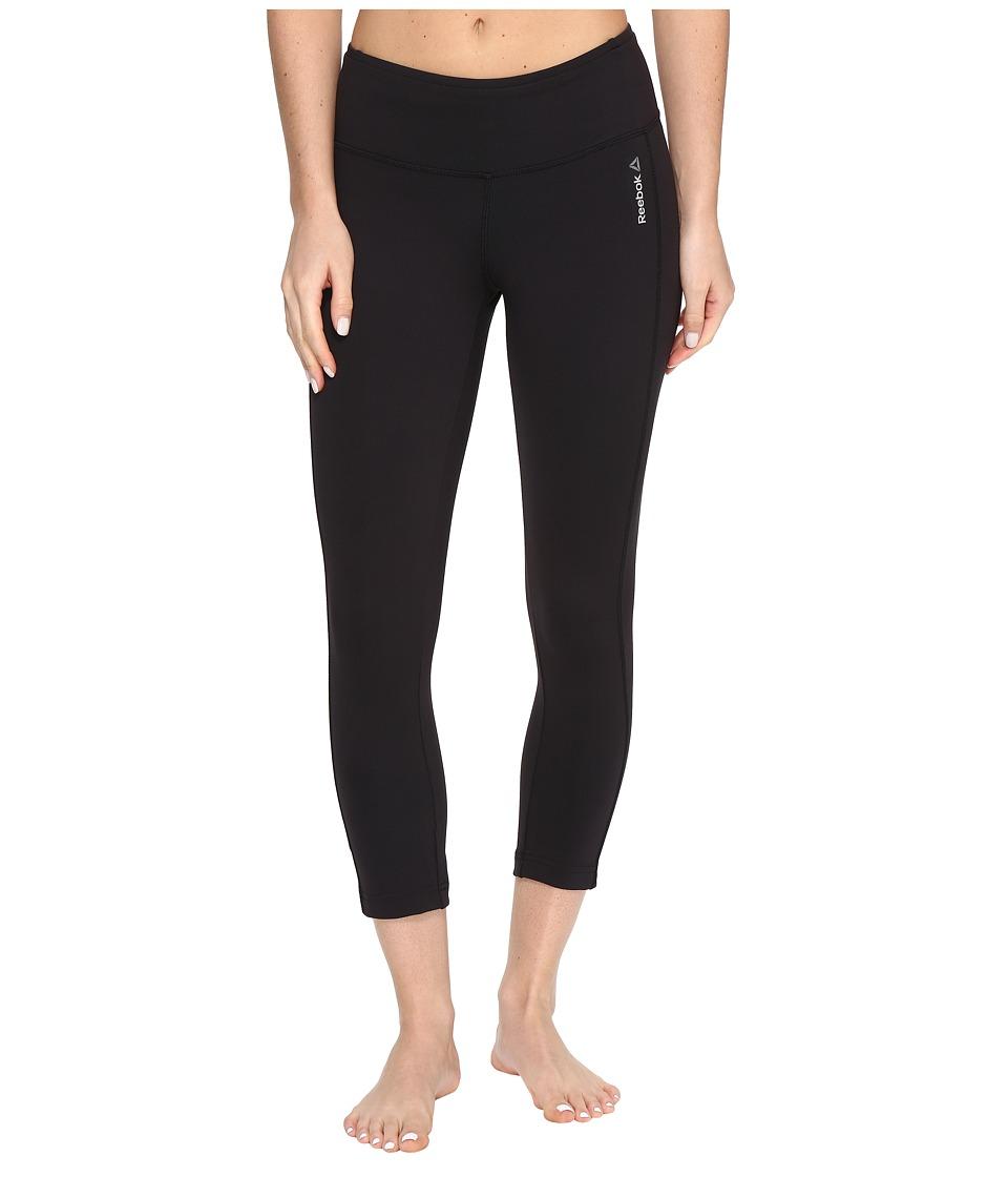 Reebok - Workout Ready Pant Program 3/4 Capris LR (Black) Women's Capri