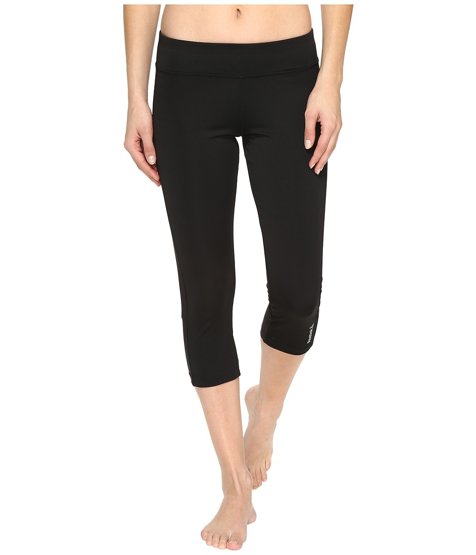 Reebok Workout Ready Capris Colored Block (Black) Women
