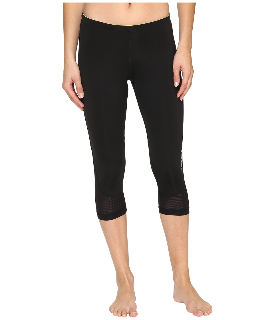 Reebok - Running Essentials Capris (Black/Solar Yellow) Women's Capri
