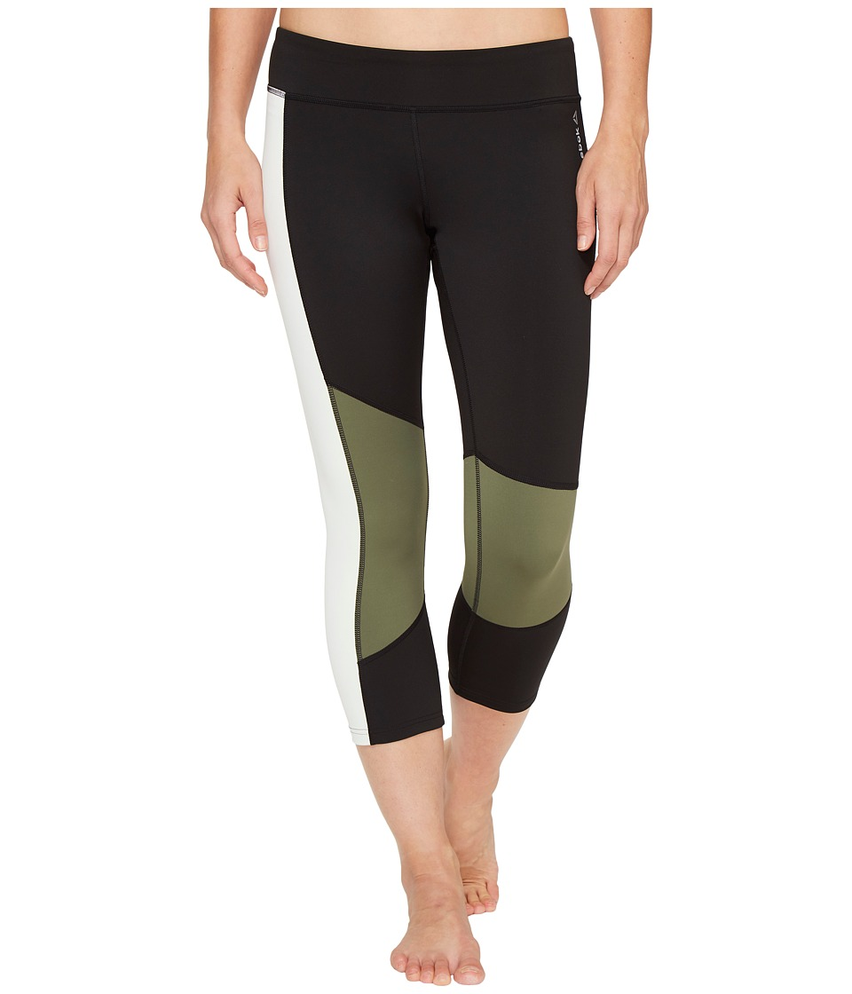 Reebok - Dance Color Block Capris (Black) Women's Capri