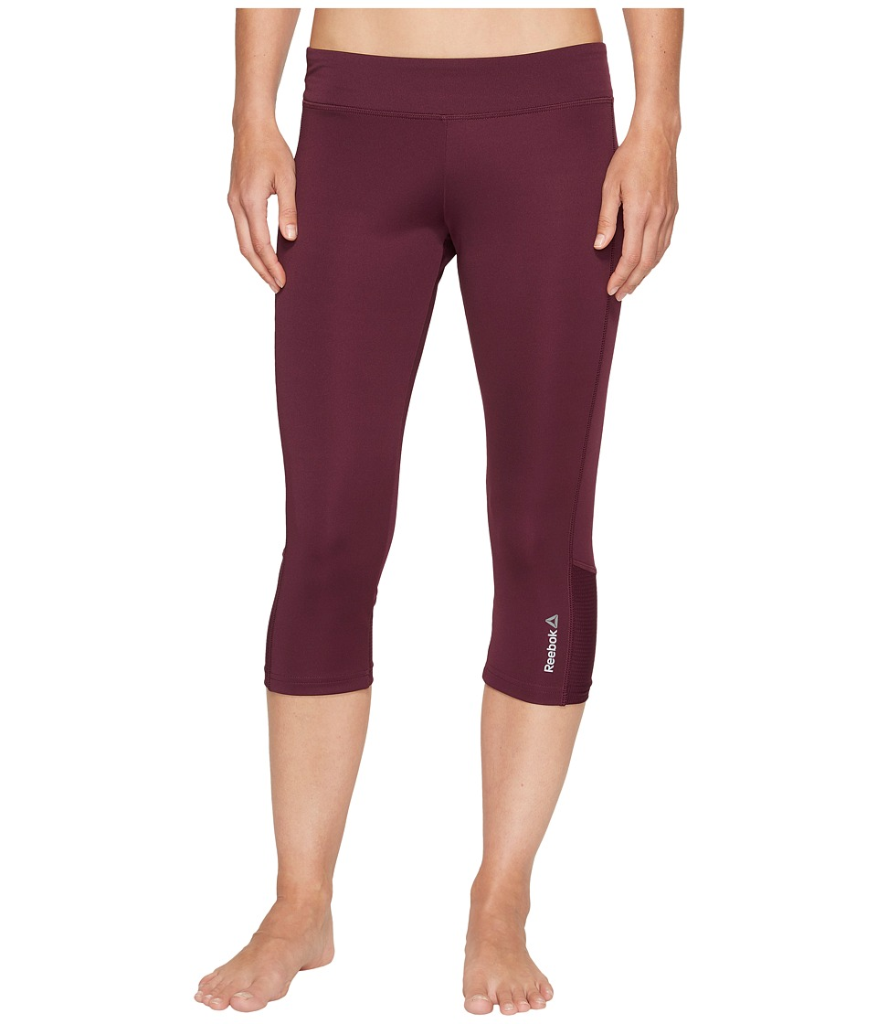 Reebok - Workout Ready Capris Colored Block (Pacific Purple) Women's Capri
