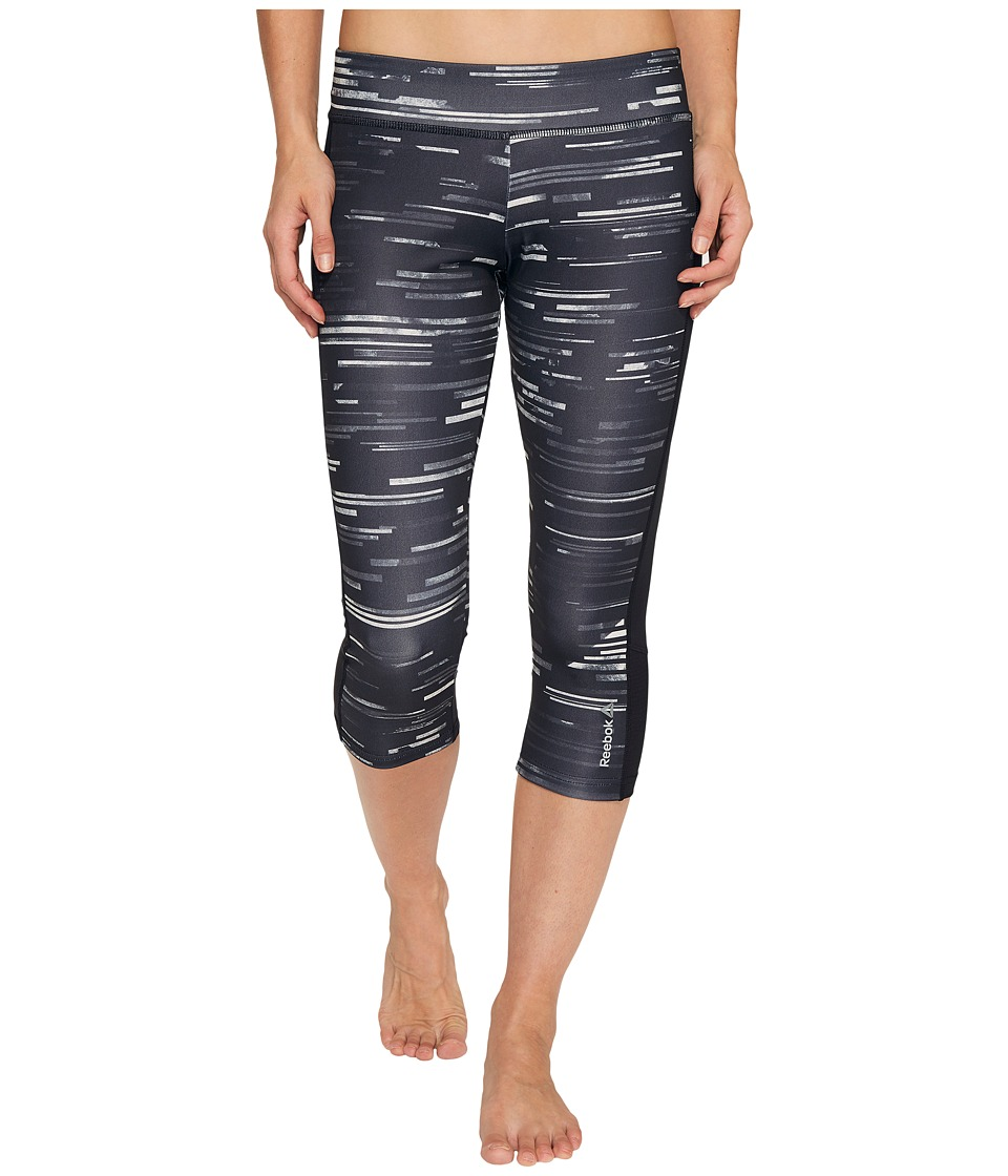 Reebok - Workout Ready Capri Aop Capris (Chalk) Women's Capri