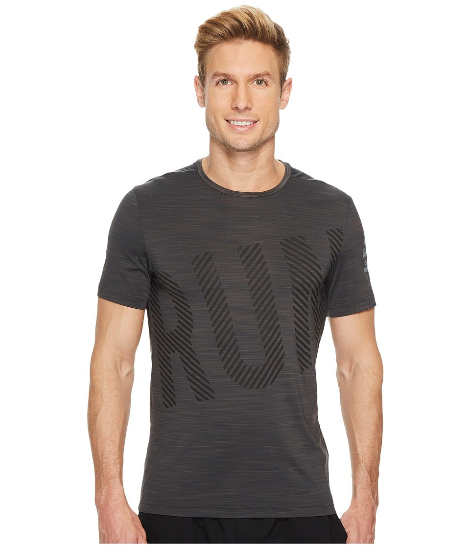 Reebok - One Series Running Short Sleeve Activchill Tee (Coal) Men's T Shirt