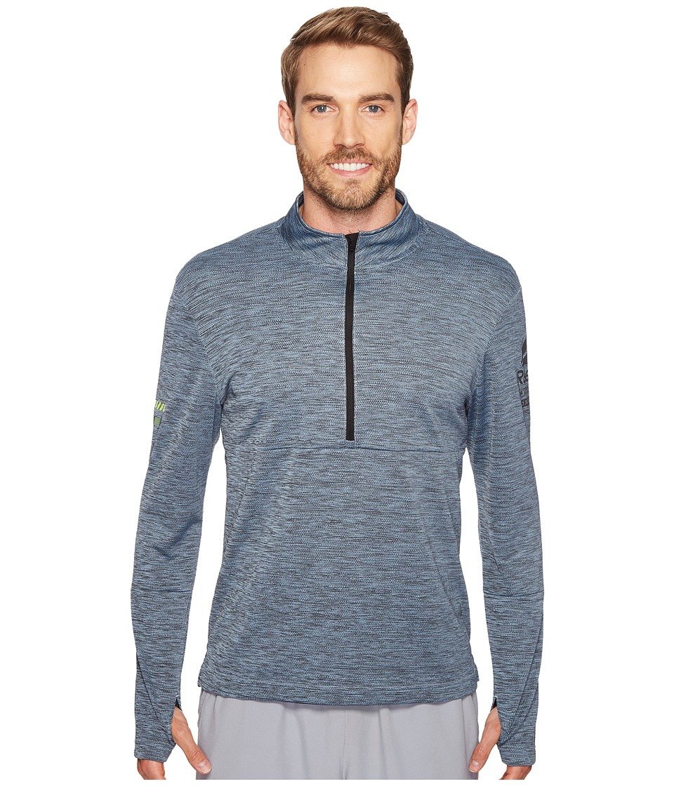 Reebok - One Series Running Long Sleeve 1/2 Zip (Gable Grey) Men's Clothing
