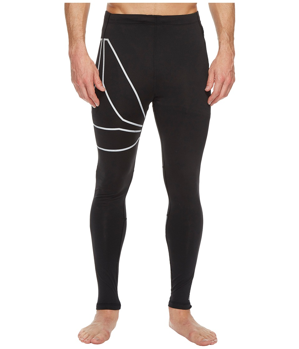 Reebok - One Series Running Tights (Black) Men's Casual Pants