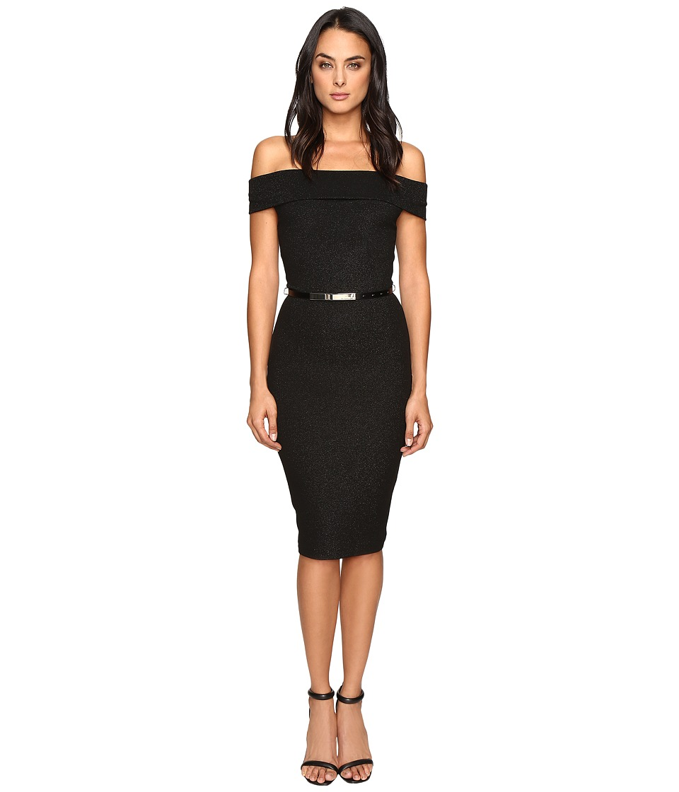 Ted Baker - Vindy Bardot Midi Bodycon Dress (Black) Women's Dress