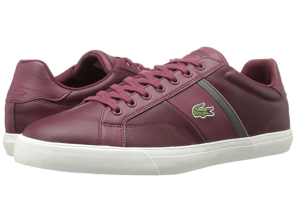 Lacoste - Fairlead 416 1 (Dark Red) Men's Shoes