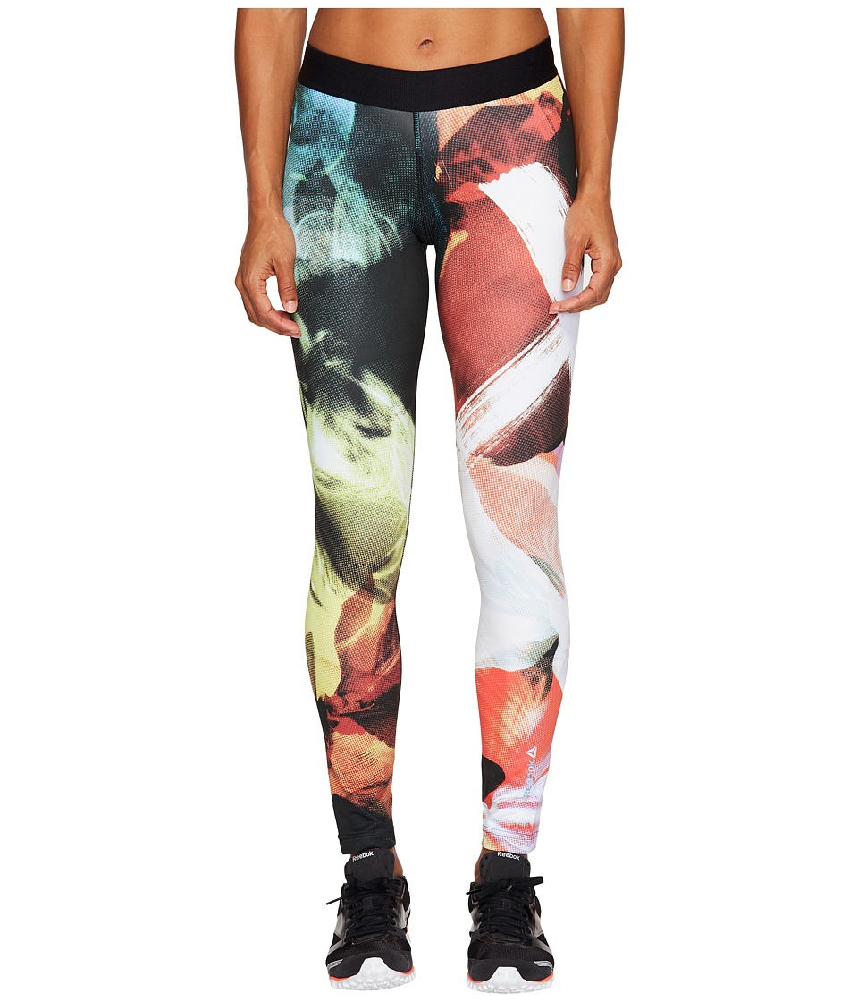 Reebok - Acid Fade Tights (Carotene) Women's Workout