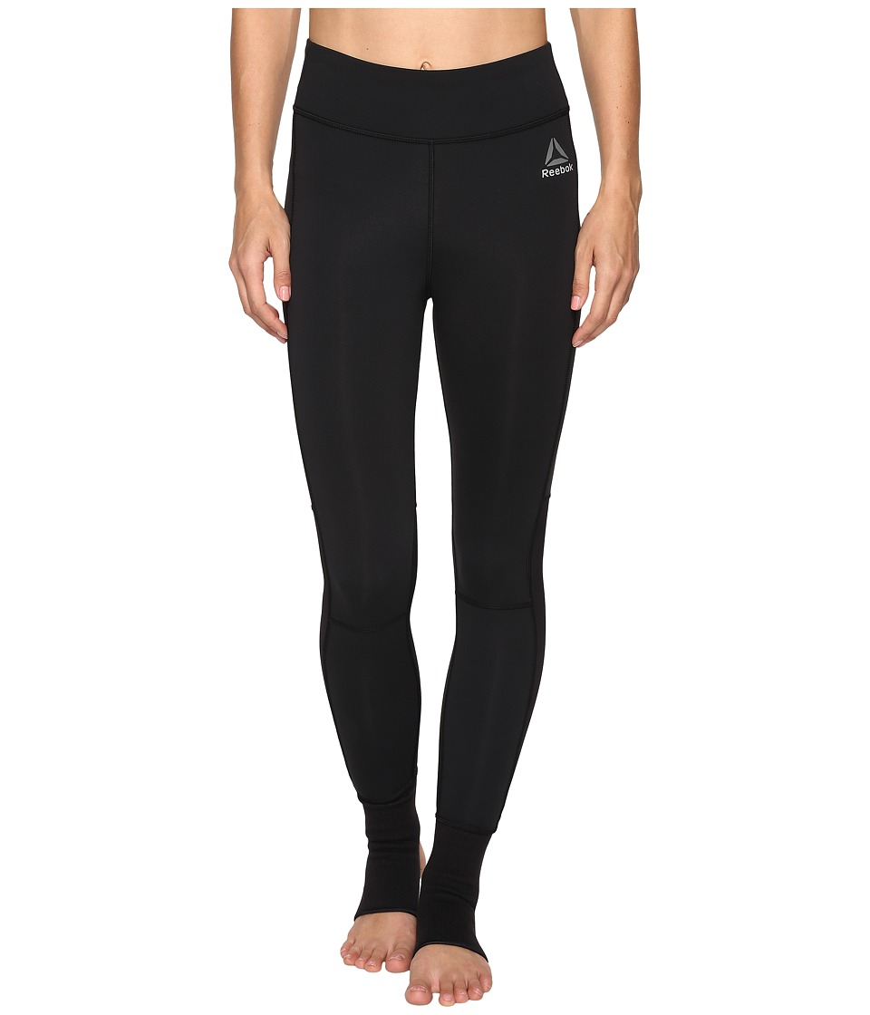 Reebok - Combat Ankle Lock Tights (Black) Women's Workout