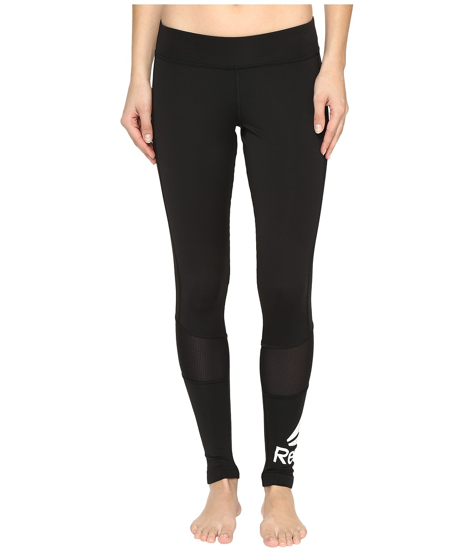 Reebok - Workout Ready Aop Tights (Black/White) Women's Workout