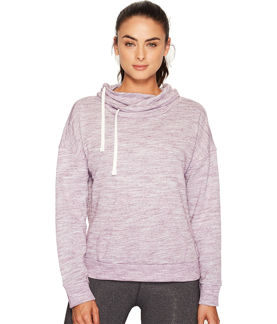 Reebok - Elements Marble Cowl Neck (Pacific Purple) Women's Clothing
