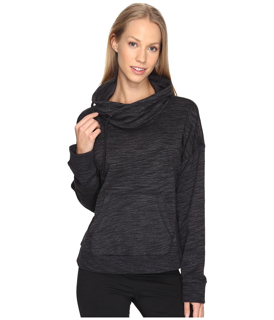 Reebok - Elements Marble Cowl Neck (Black) Women's Clothing