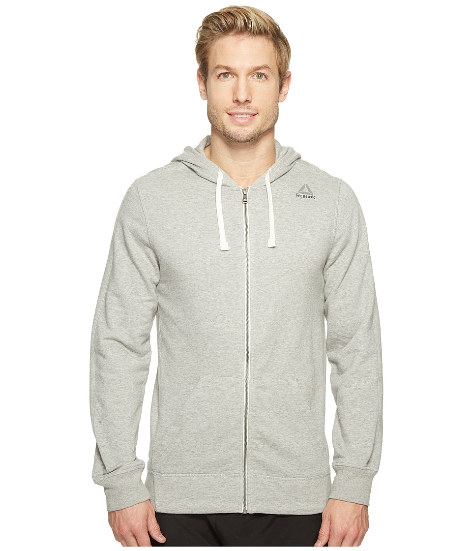 Reebok - US Elements Seasonal French Terry Full Zip (Medium Grey Heather) Men's Clothing