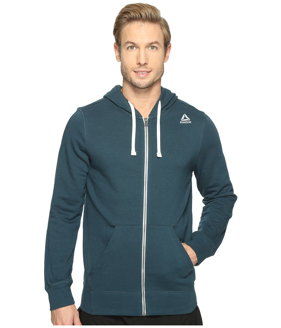 Reebok - US Elements Seasonal French Terry Full Zip (Mineral Blue) Men's Clothing