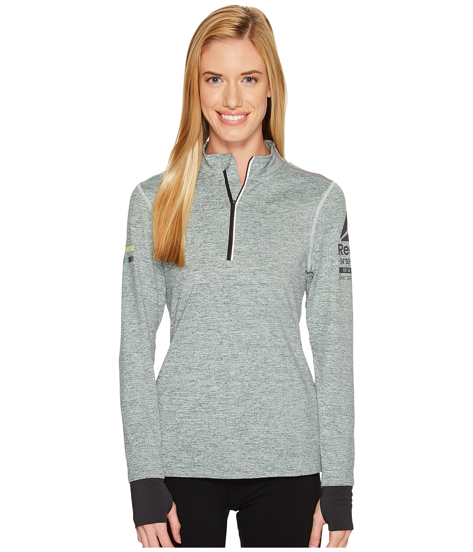 Reebok - One Series Running 1/4 Zip Top (Mist) Women's Clothing