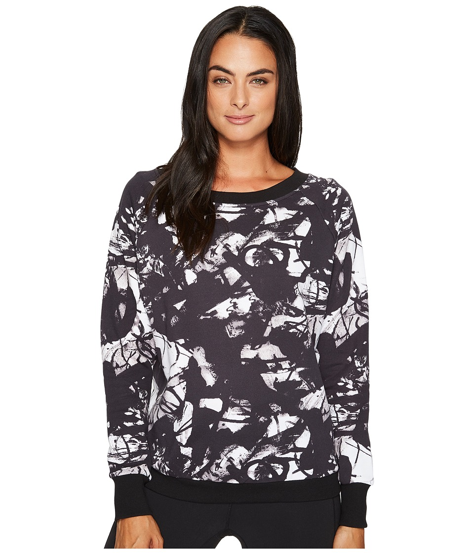 Reebok - S Faves Midnight Ink Crew Neck (Black) Women's Clothing