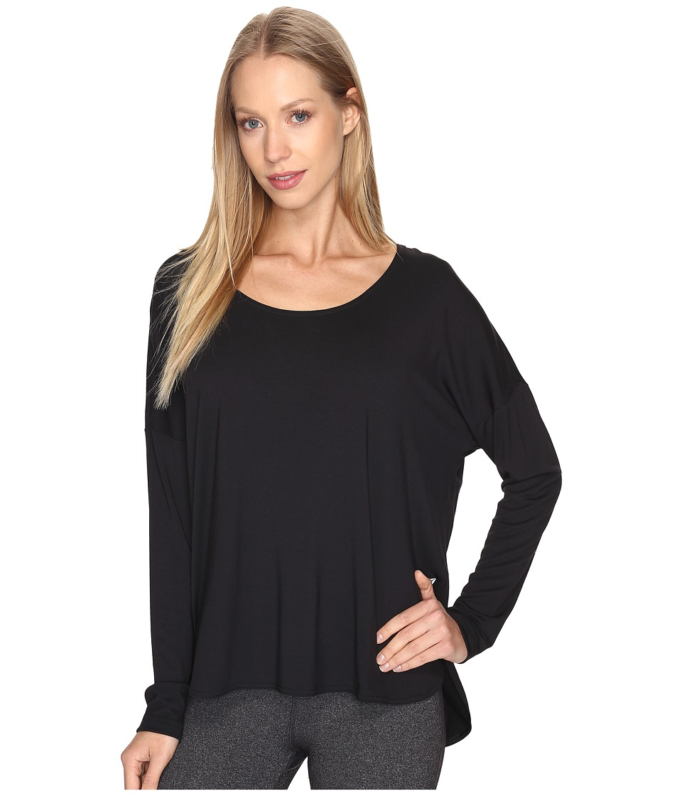 Reebok - Studio Lux Long Sleeve (Black) Women's Clothing