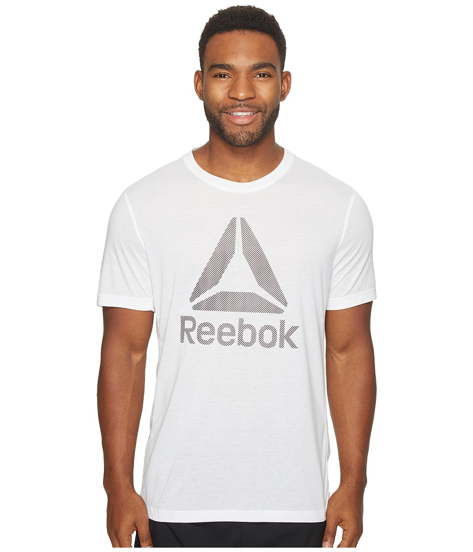 Reebok - US Workout Ready Supremium 2.0 Tee Big Logo (White) Men's T Shirt