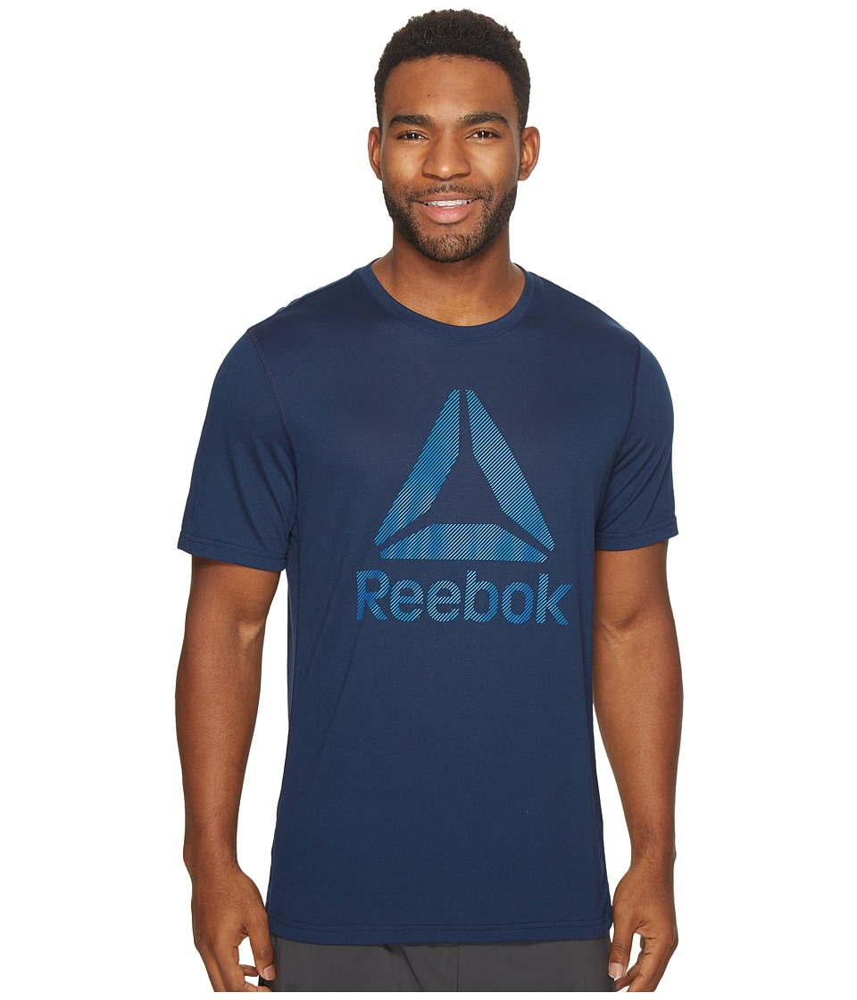 Reebok US Workout Ready Supremium 2.0 Tee Big Logo (Collegiate Navy) Men