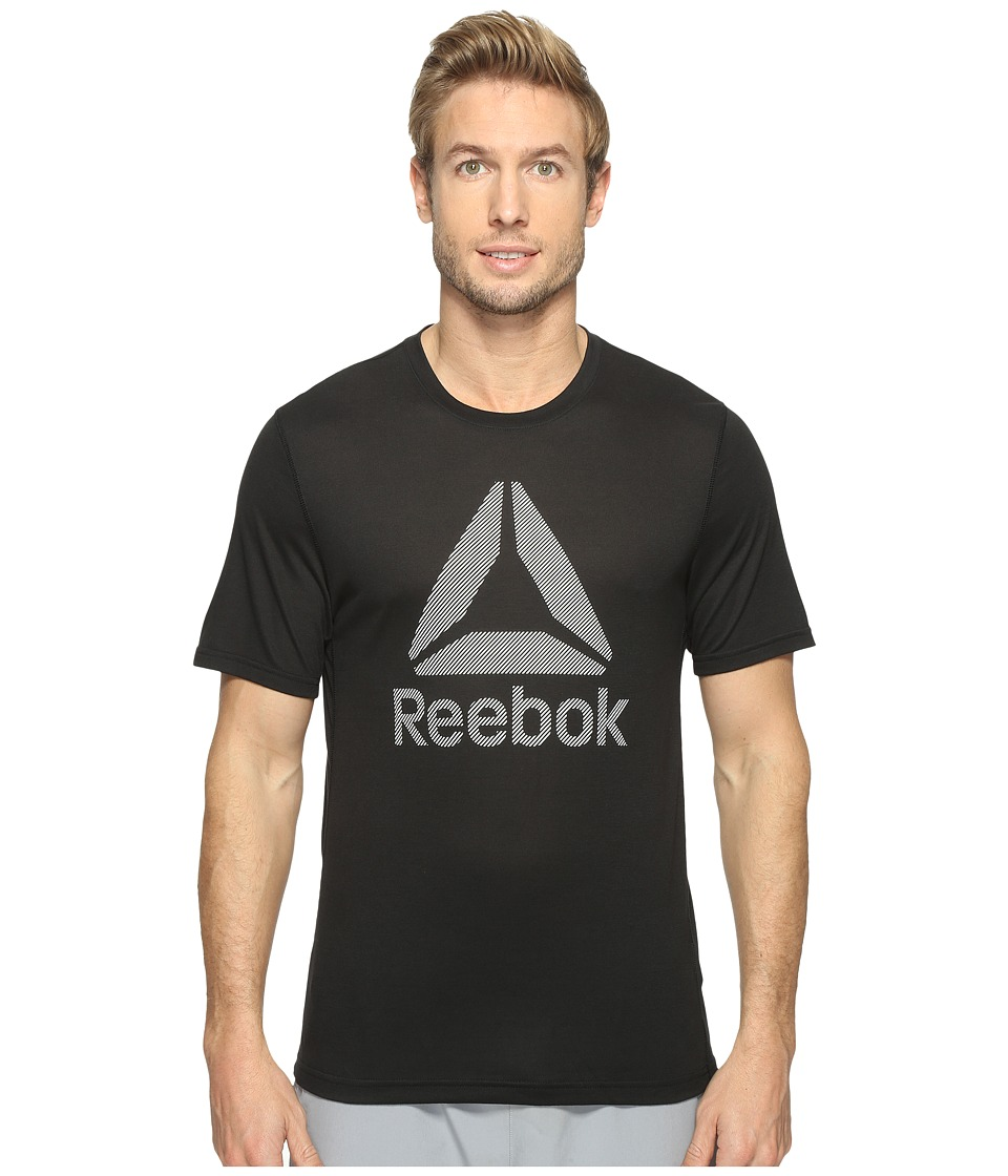 Reebok US Workout Ready Supremium 2.0 Tee Big Logo (Black) Men