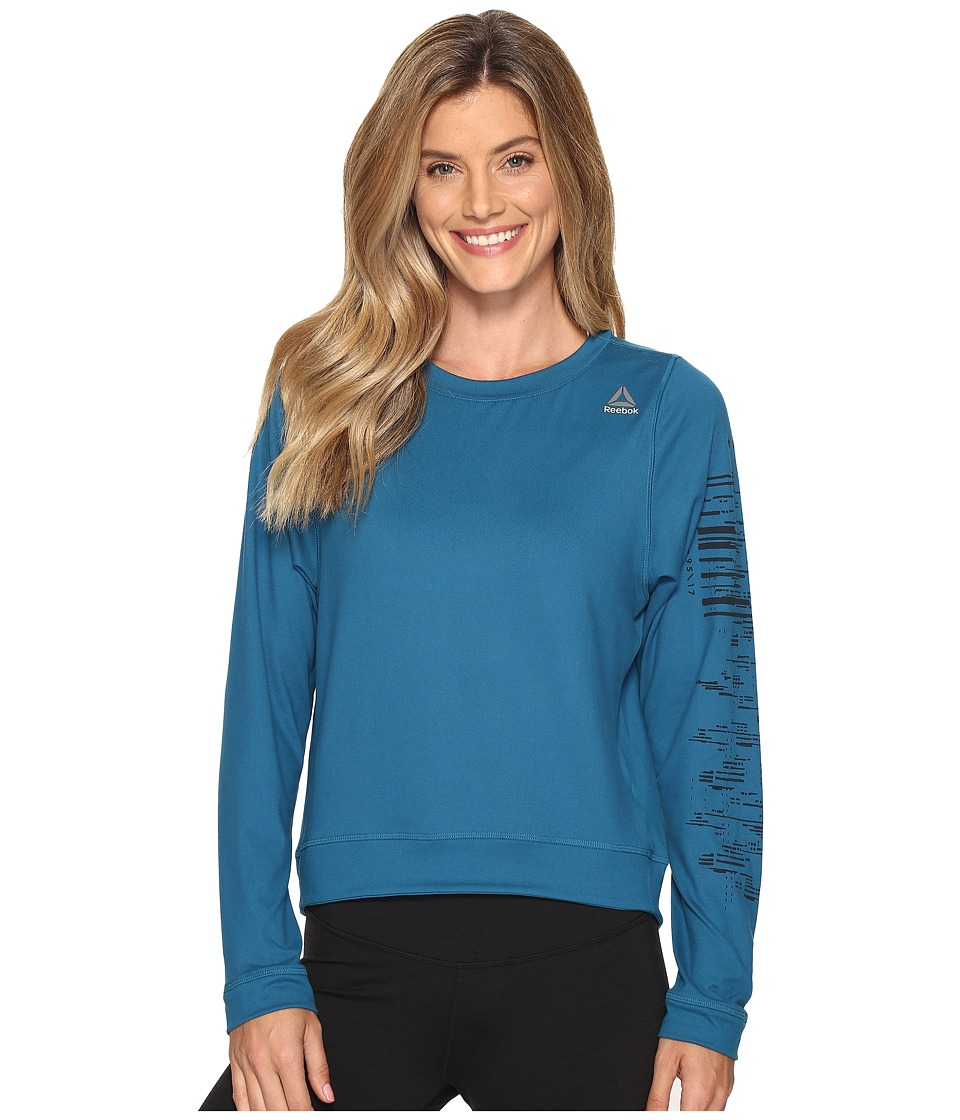 Reebok Workout Ready Crew Neck Sweatshirt (Emerald Tide) Women