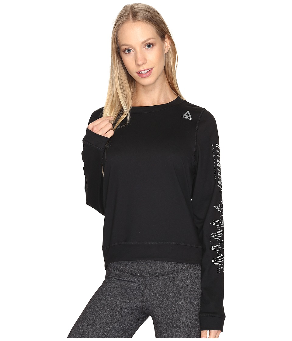 Reebok - Workout Ready Crew Neck Sweatshirt (Black) Women's Sweatshirt
