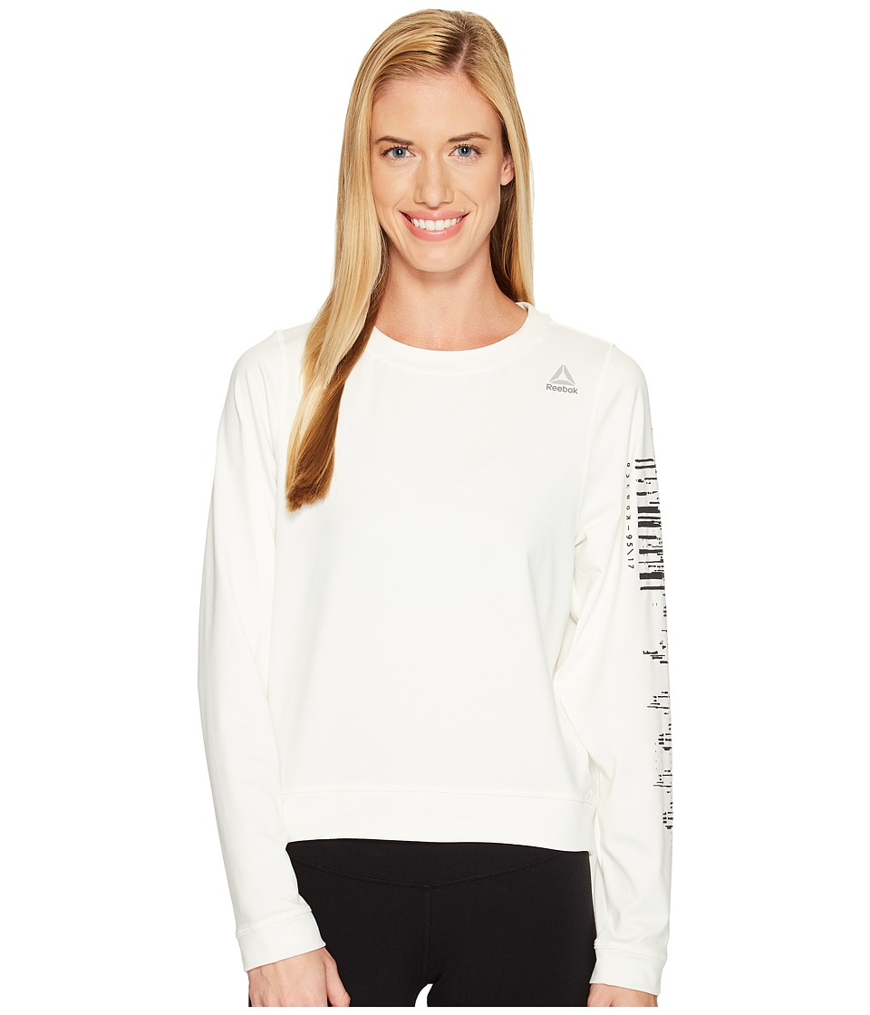 Reebok Workout Ready Crew Neck Sweatshirt (Chalk) Women