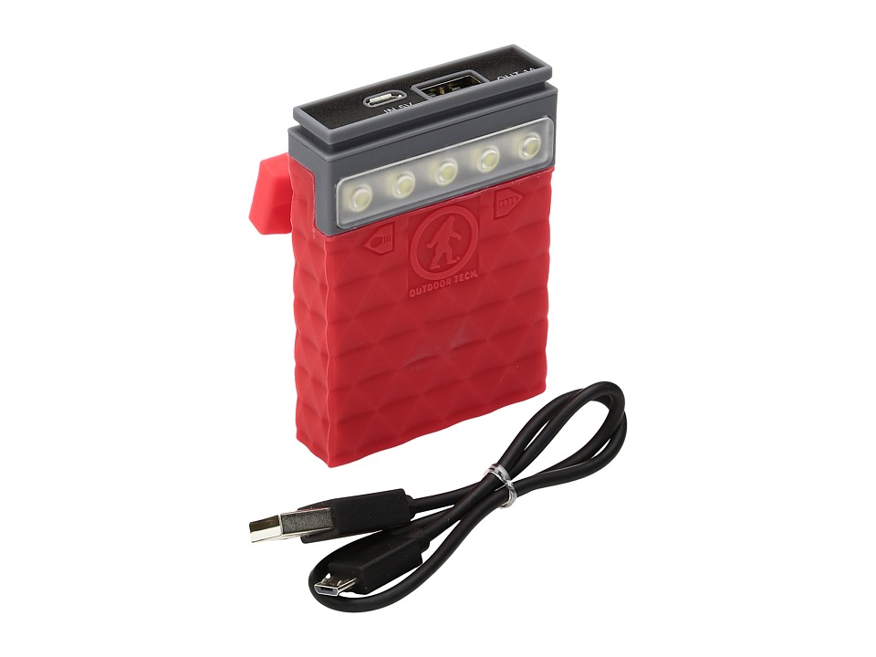 Outdoor Tech - Kodiak Mini 2.0 Power Bank (Red) Headphones