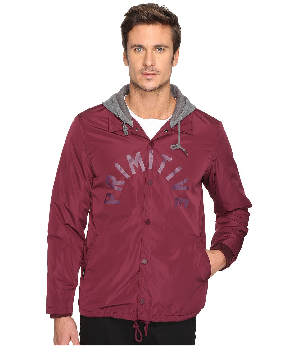 Primitive - Twofer Coach Jacket (Burgundy) Men's Coat