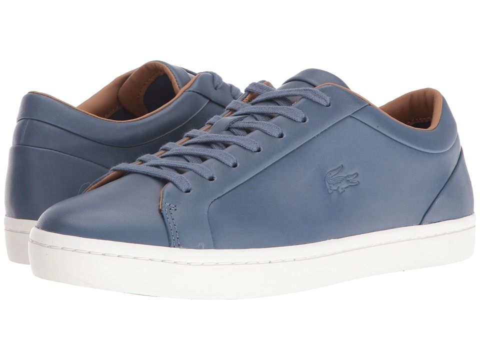 Lacoste - Straightset 416 1 (Dark Blue) Men's Shoes