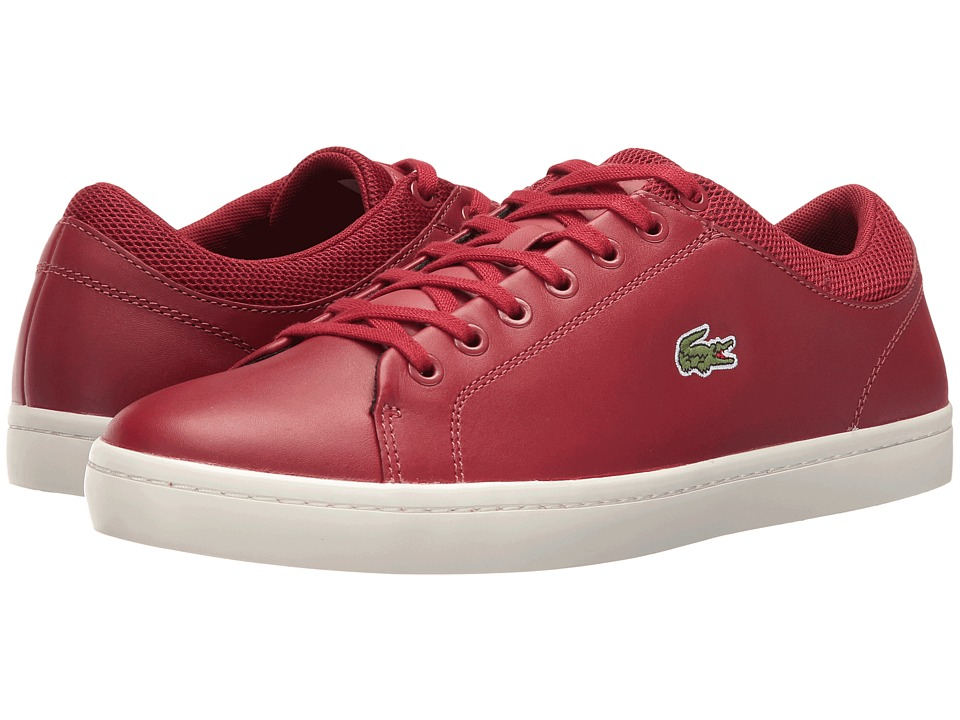 Lacoste - Straightset SPT 416 1 (Dark Red) Men's Shoes