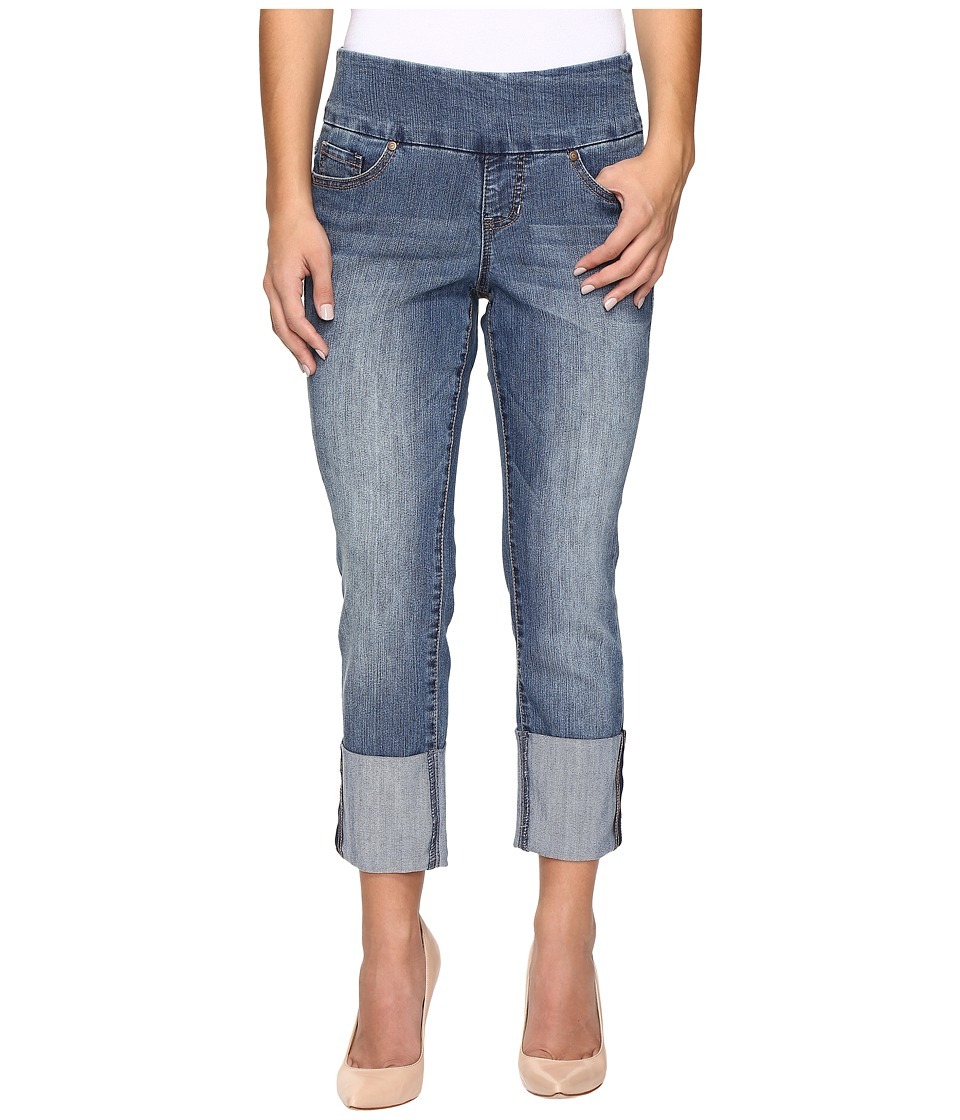 Jag Jeans Petite - Petite Lewis Straight Cuffed Comfort Denim in Weathered Blue (Weathered Blue) Women's Jeans