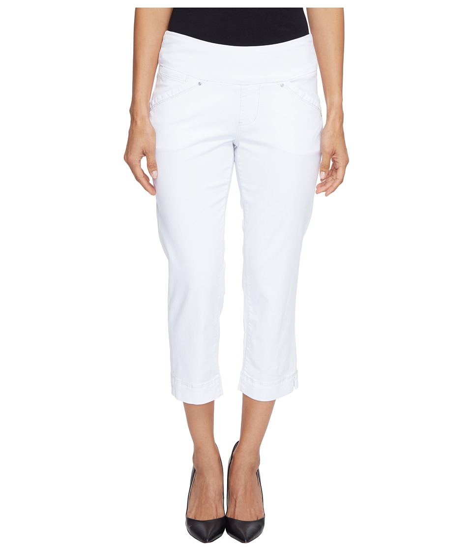 Jag Jeans Petite - Petite Marion Pull-On Crop in Bay Twill (White) Women's Casual Pants
