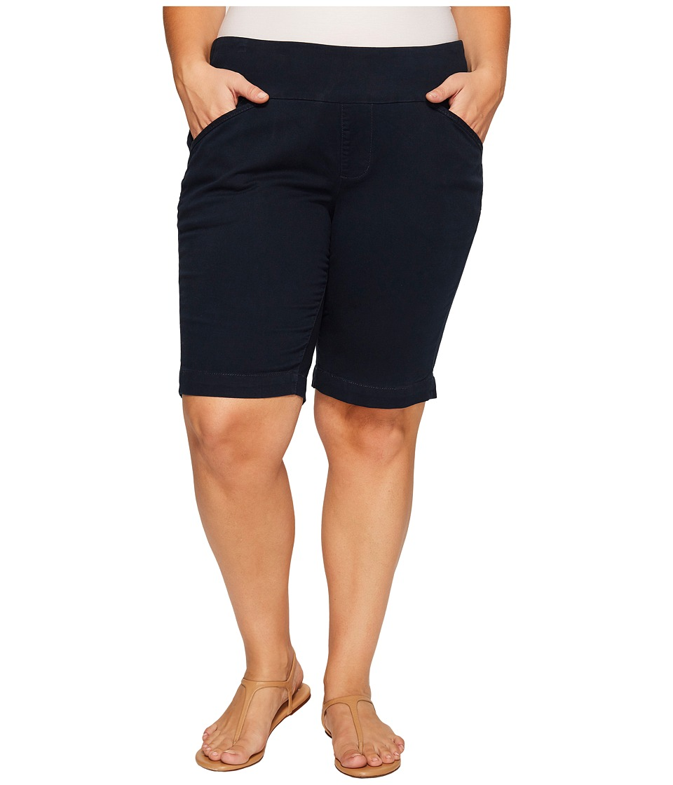 Jag Jeans Plus Size - Plus Size Ainsley Classic Fit Bermuda in Bay Twill (Nautical Navy) Women's Shorts