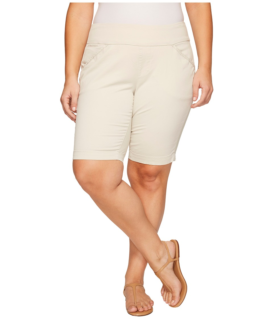 Jag Jeans Plus Size - Plus Size Ainsley Classic Fit Bermuda in Bay Twill (Stone) Women's Shorts