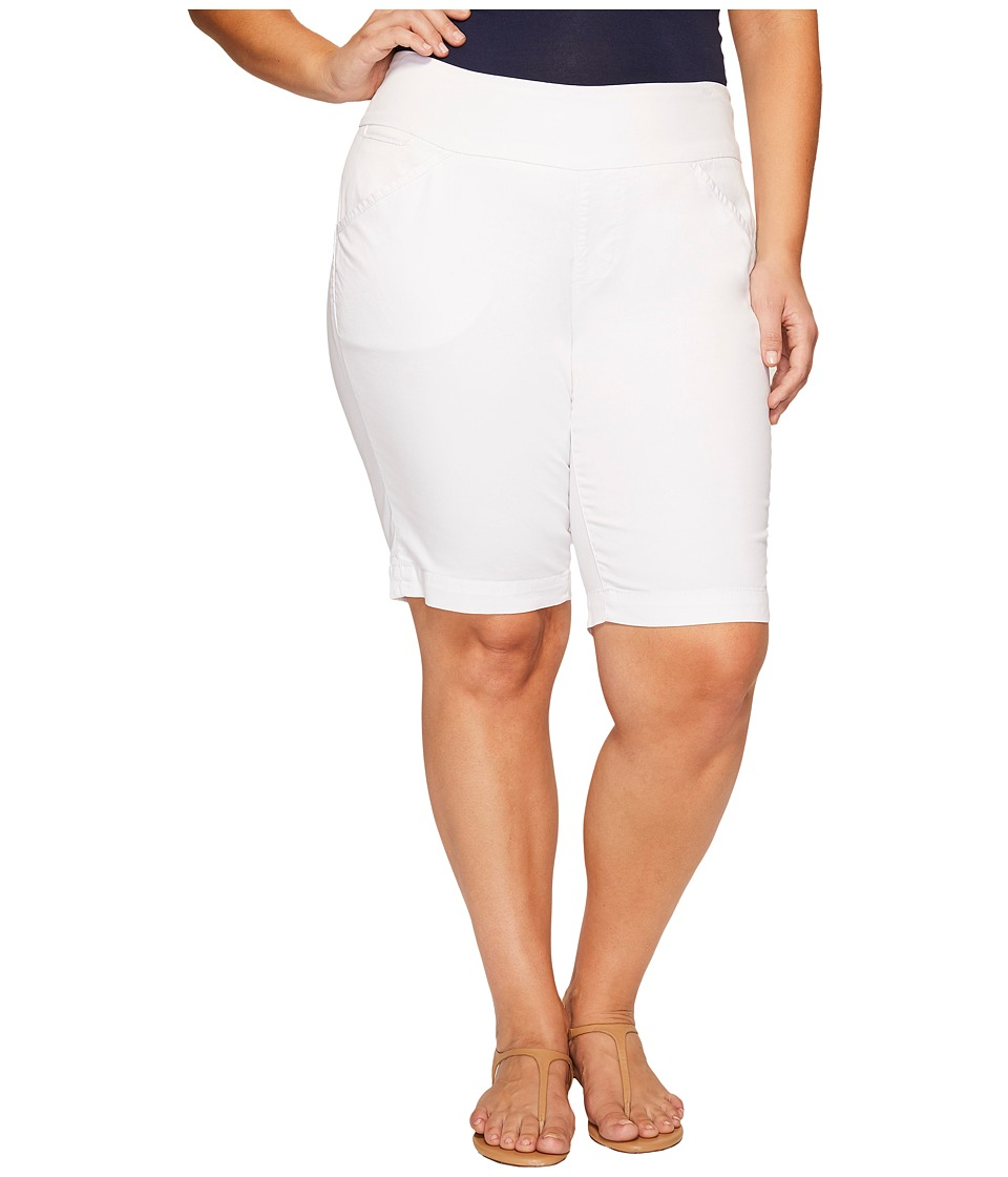 Jag Jeans Plus Size - Plus Size Ainsley Classic Fit Bermuda in Bay Twill (White) Women's Shorts
