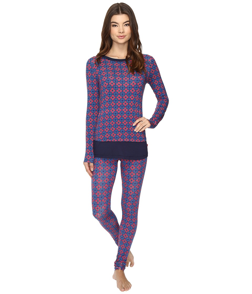 Josie - Mingle Printed Modal Double Trouble PJ (Blue Shadow 1) Women's Pajama Sets