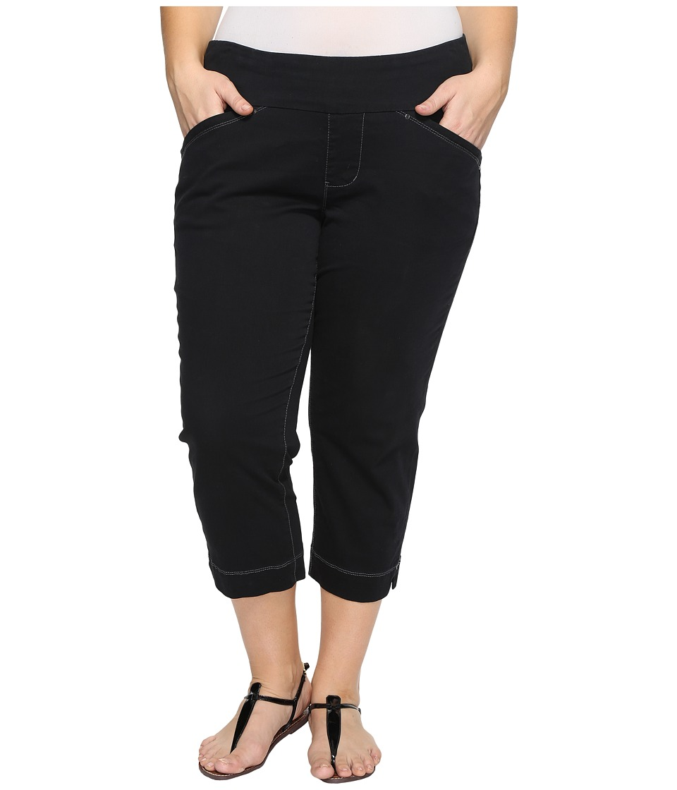 Jag Jeans Plus Size - Plus Size Marion Crop in Bay Twill (Black) Women's Casual Pants
