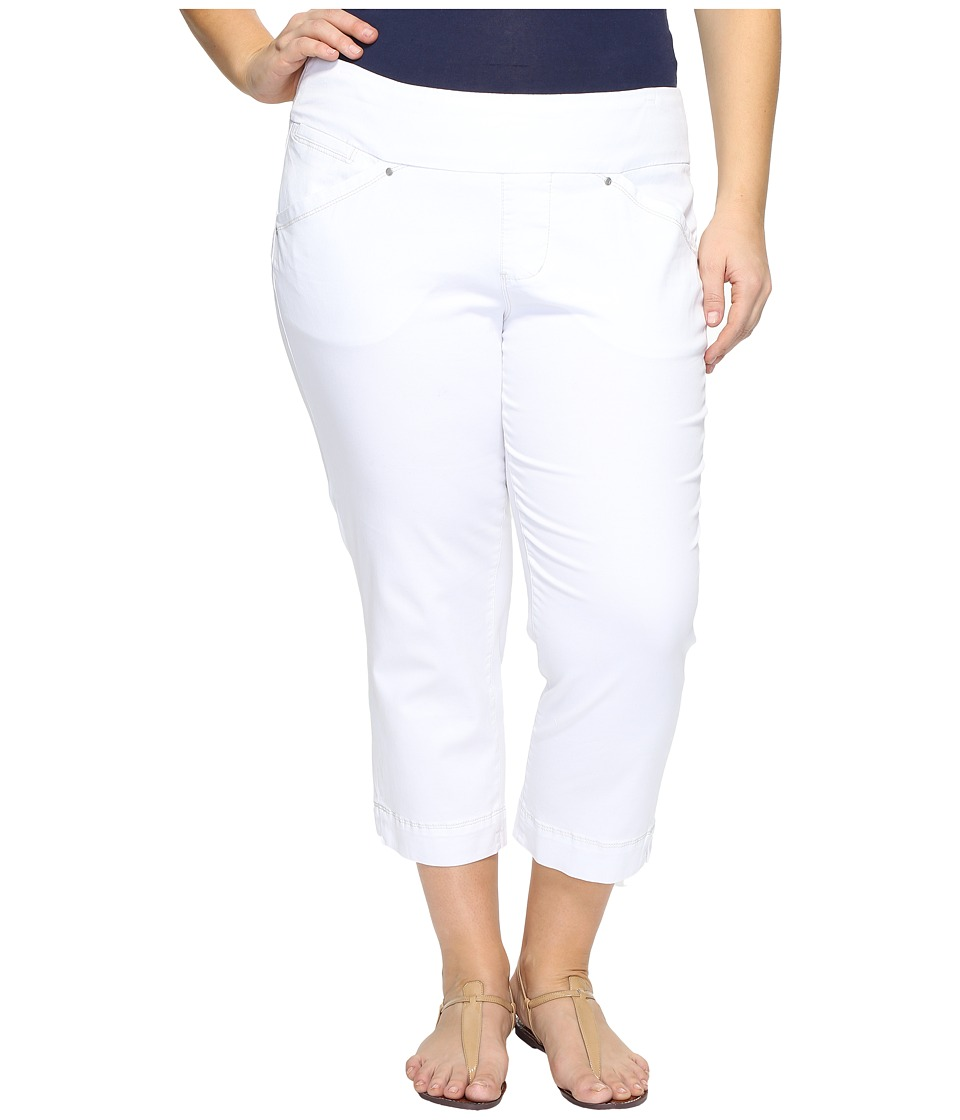 Jag Jeans Plus Size - Plus Size Marion Crop in Bay Twill (White) Women's Casual Pants