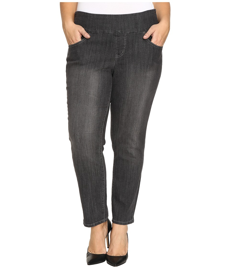 Jag Jeans Plus Size Plus Size Amelia Pull-On Slim Ankle Comfort Denim in Thunder Grey (Thunder Grey) Women