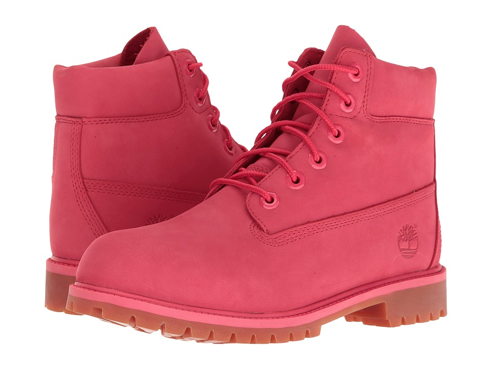 Timberland Kids - 6 Premium Waterproof Boot (Big Kid) (Light Cardinal Waterbuck) Girls Shoes