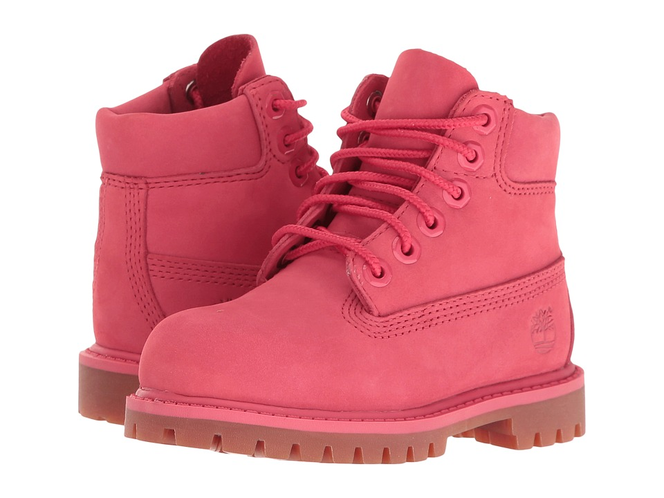 Timberland Kids - 6 Premium Waterproof Boot (Toddler/Little Kid) (Light Cardinal Waterbuck) Girls Shoes