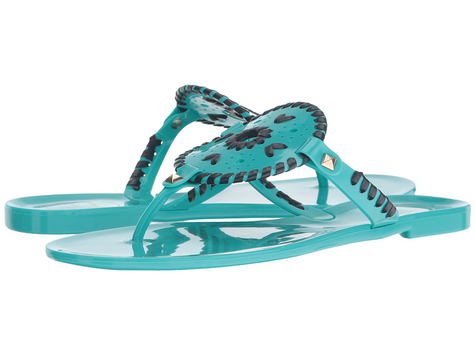 Jack Rogers - Georgica Jelly (Caribbean Blue/Navy) Women's Sandals